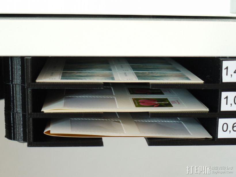 堆叠式柜底信件盒 3D模型  图5