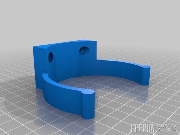 壁挂式简易灭火器 3D模型  图3