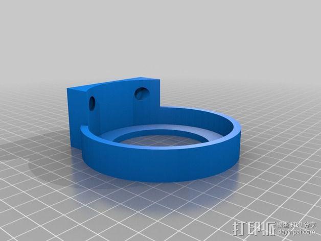 壁挂式简易灭火器 3D模型  图4