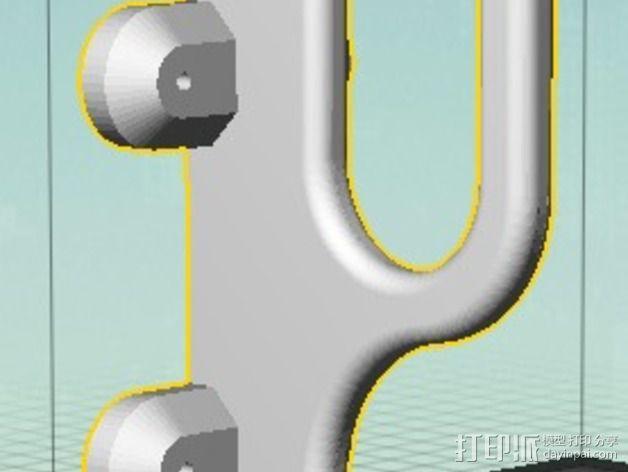 武士刀陈列架 3D模型  图3