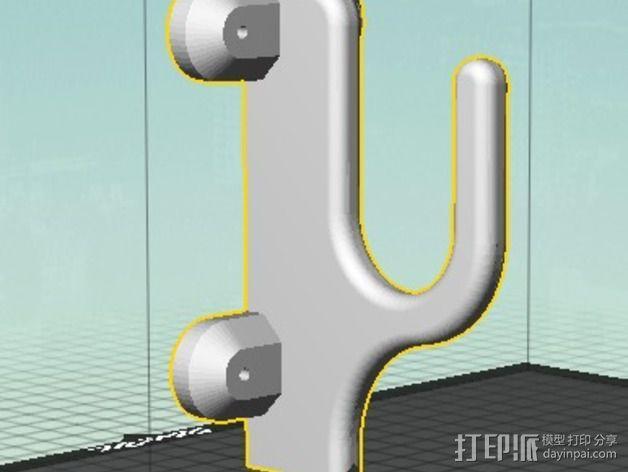 武士刀陈列架 3D模型  图5