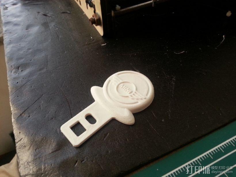 迷你库帕车安全带扣锁 3D模型  图1