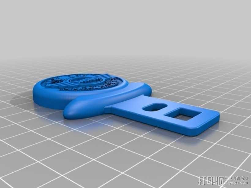 迷你库帕车安全带扣锁 3D模型  图2