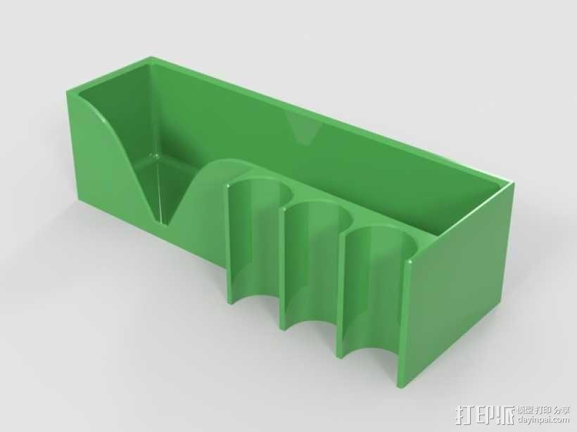 白板檫/白板笔固定架 3D模型  图2
