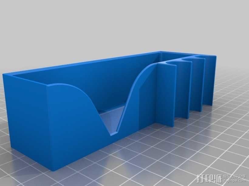 白板檫/白板笔固定架 3D模型  图3
