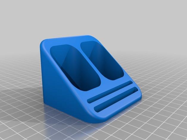 牙刷/牙膏固定架 3D模型  图3