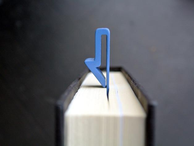 箭头形书签#1 3D模型  图1