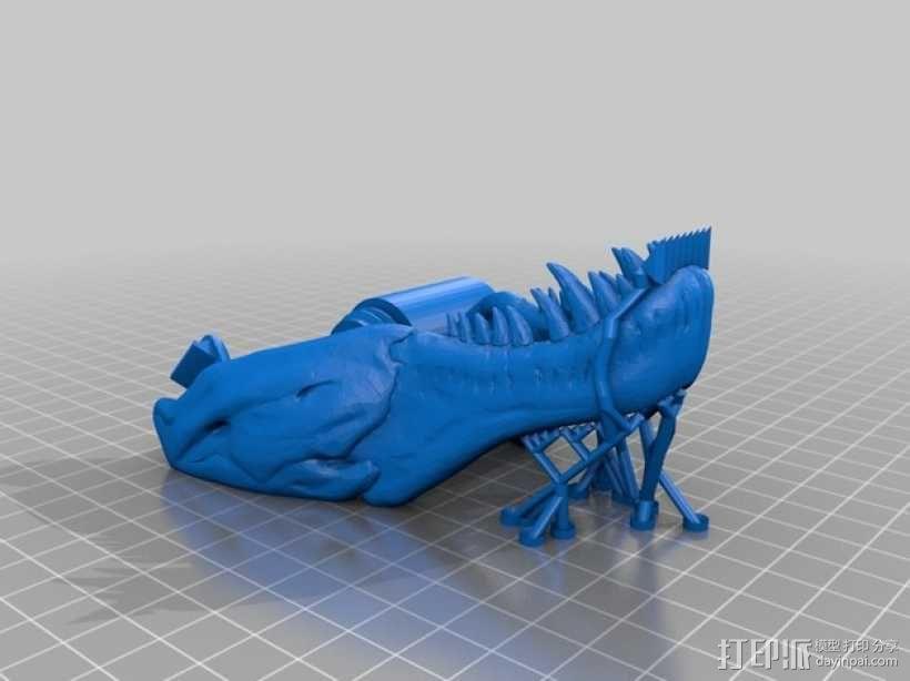 恐龙形胶带分割器 3D模型  图3