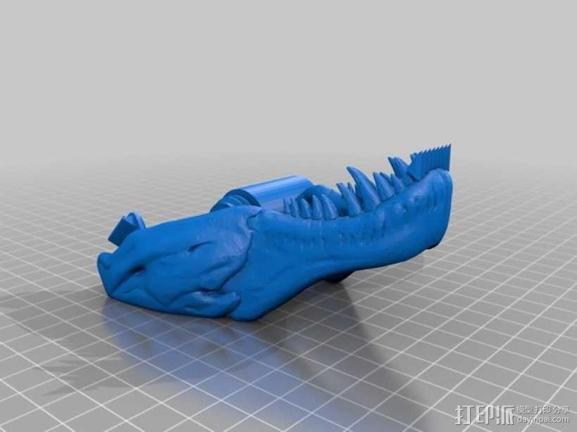 恐龙形胶带分割器 3D模型  图2