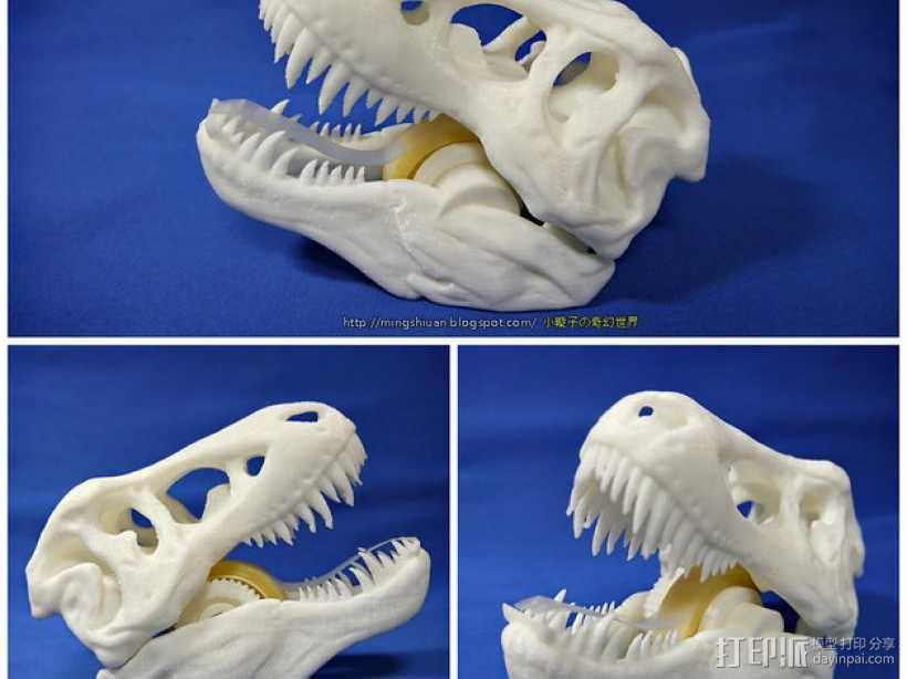 恐龙形胶带分割器 3D模型  图8