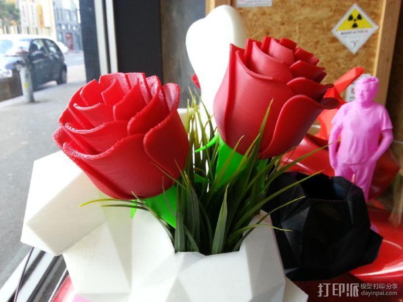 迷你玫瑰模型 3D模型  图1