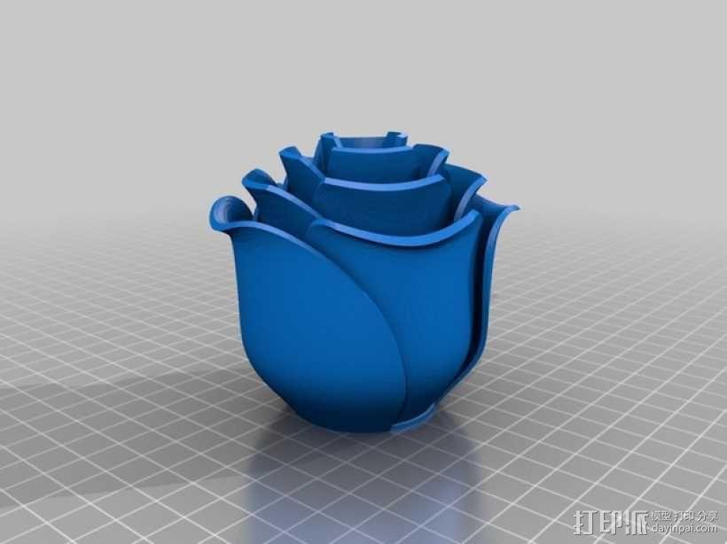 迷你玫瑰模型 3D模型  图2