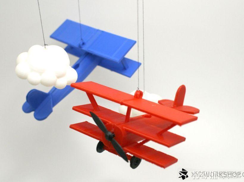螺旋桨飞机/白云 3D模型  图1