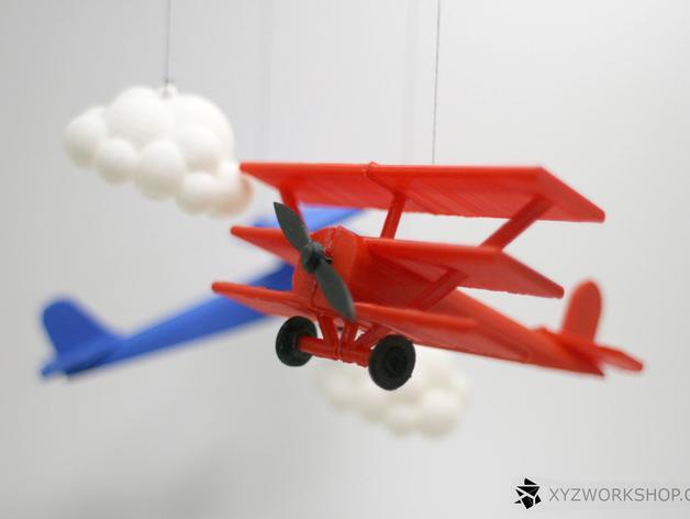 螺旋桨飞机/白云 3D模型  图6
