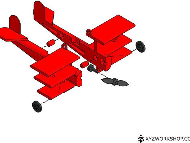 螺旋桨飞机/白云 3D模型  图7
