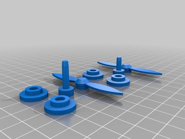 螺旋桨飞机/白云 3D模型  图4