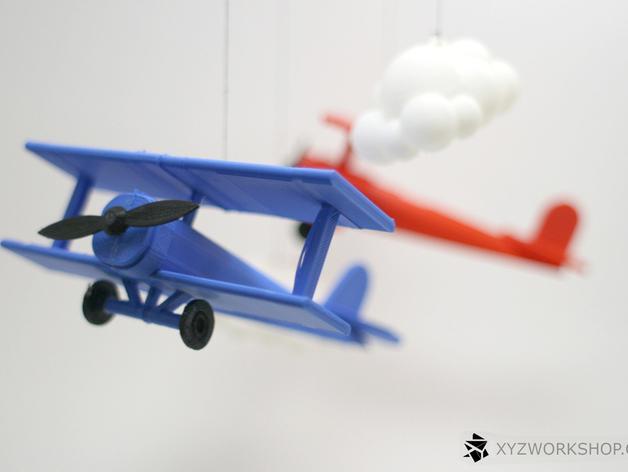 螺旋桨飞机/白云 3D模型  图5