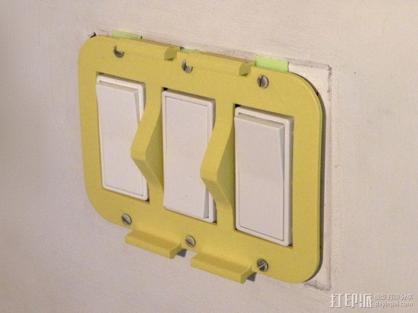 墙壁式开关按钮 3D模型  图3