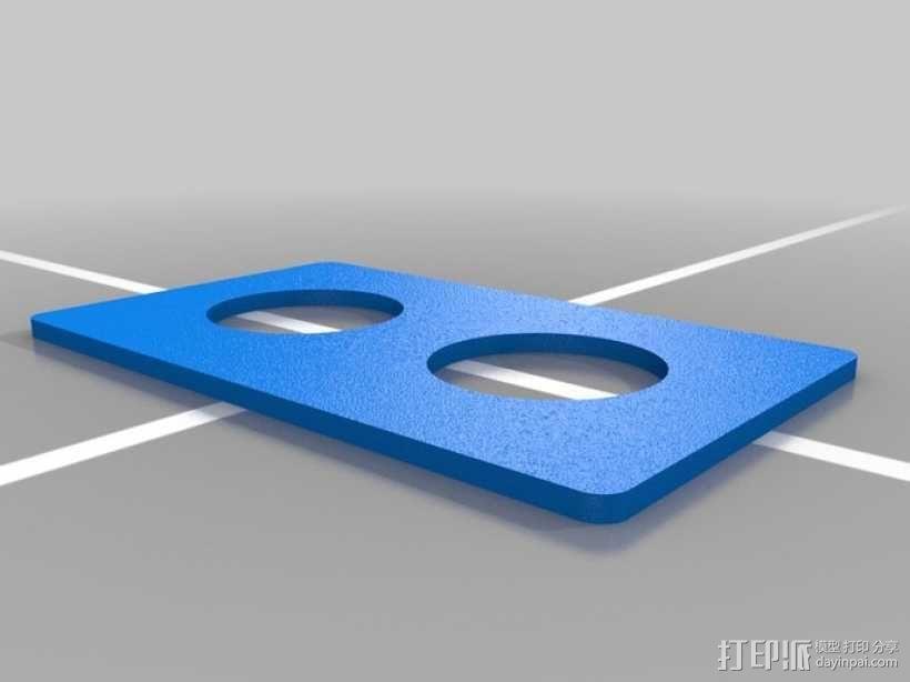 墙壁式开关按钮 3D模型  图10