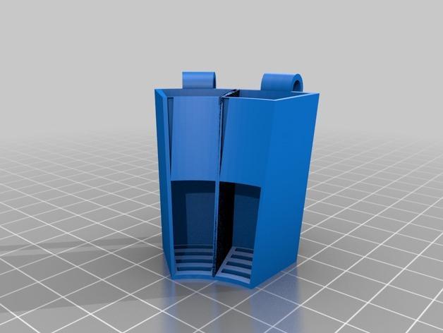电动牙刷头部固定器 3D模型  图3