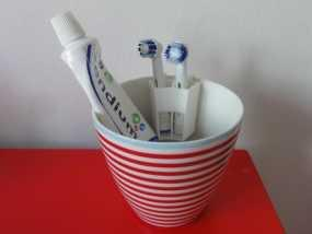 电动牙刷头部固定器 3D模型
