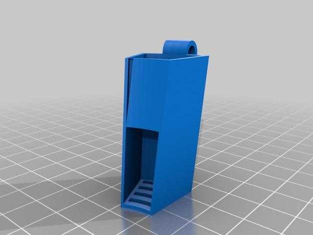 电动牙刷头部固定器 3D模型  图2