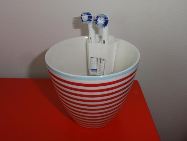 电动牙刷头部固定器 3D模型  图6