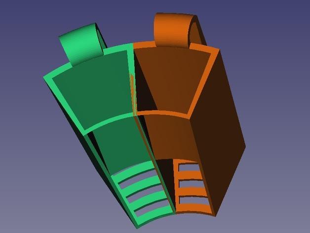 电动牙刷头部固定器 3D模型  图4