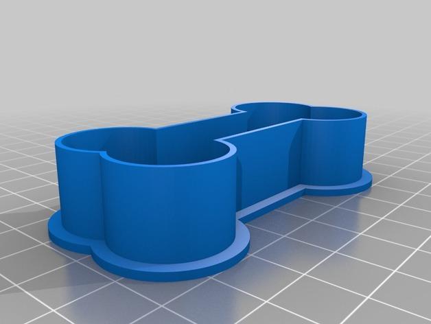 骨头饼干模具切割刀 3D模型  图2