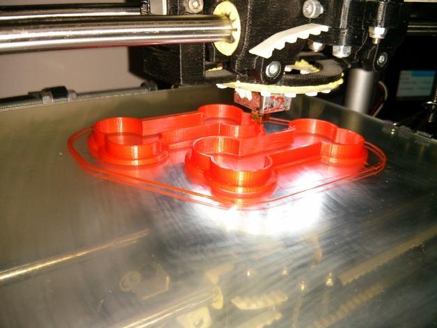 骨头饼干模具切割刀 3D模型  图3