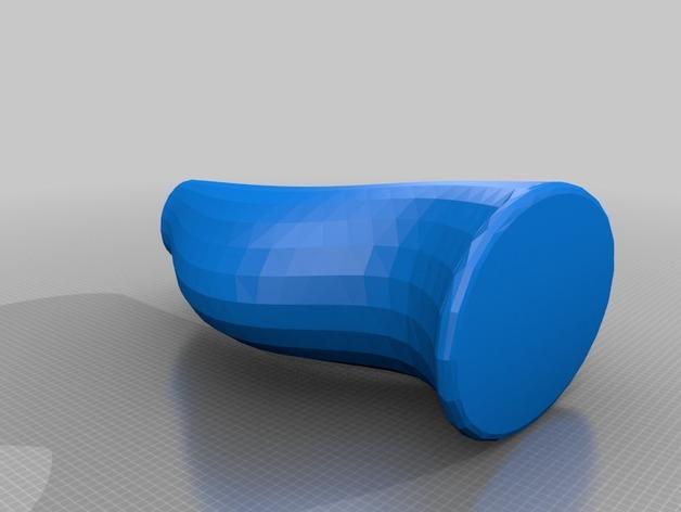 迷你简易橙色花瓶 3D模型  图3