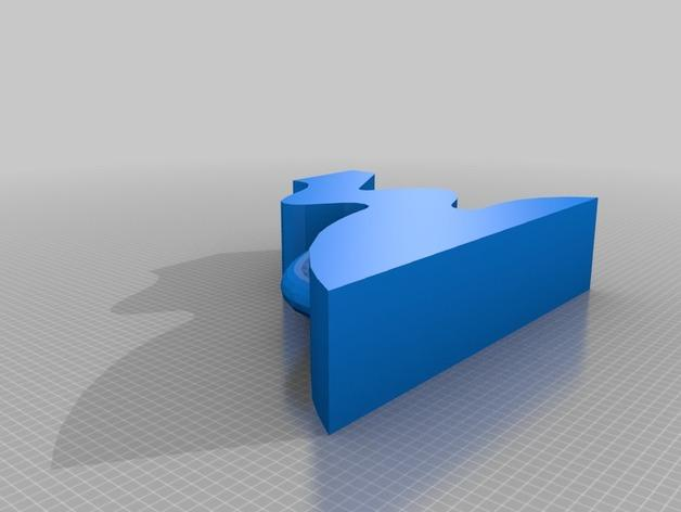 迷你简易橙色花瓶 3D模型  图2