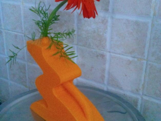 迷你简易橙色花瓶 3D模型  图6