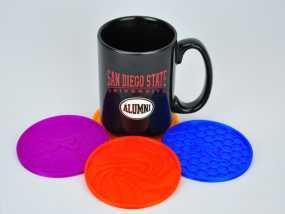 圆形杯托套件 3D模型