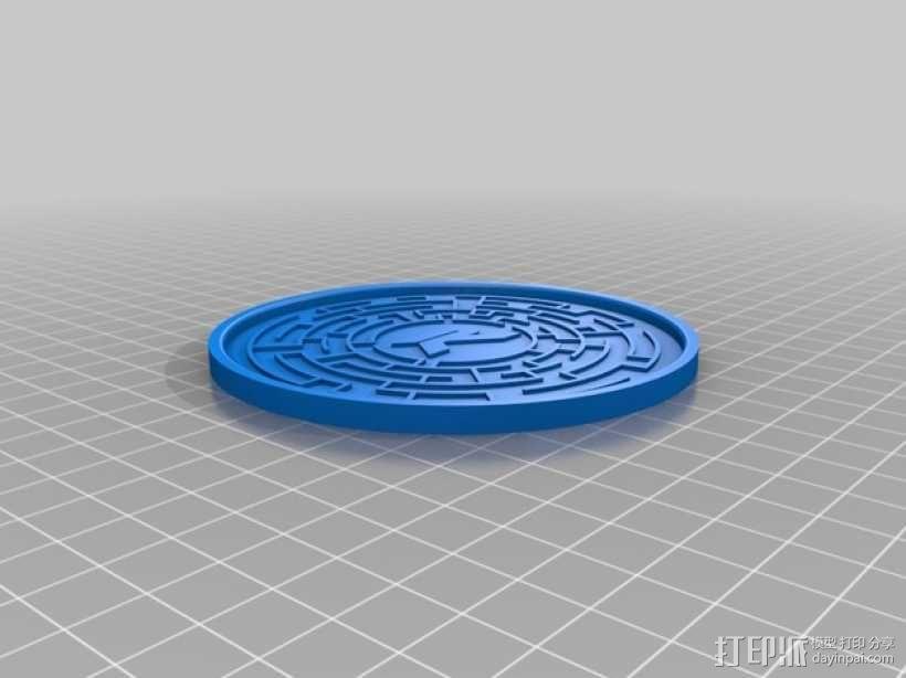 圆形杯托套件 3D模型  图4