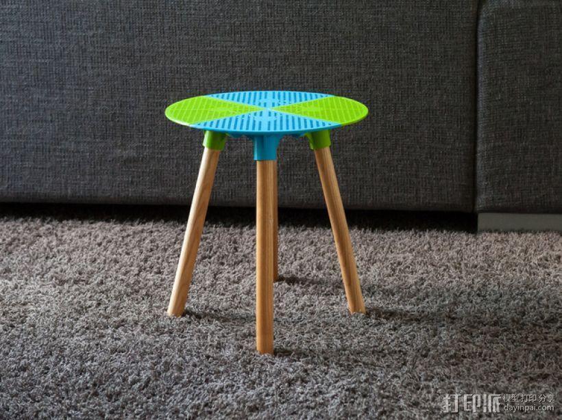 迷你小桌子/椅子 3D模型  图1