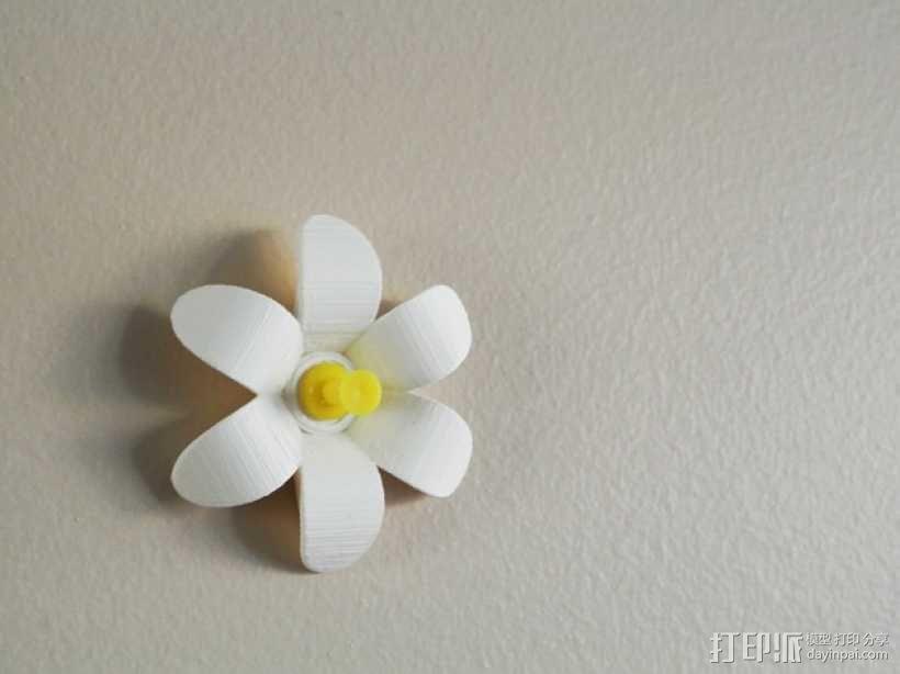 花形图钉#1 3D模型  图1
