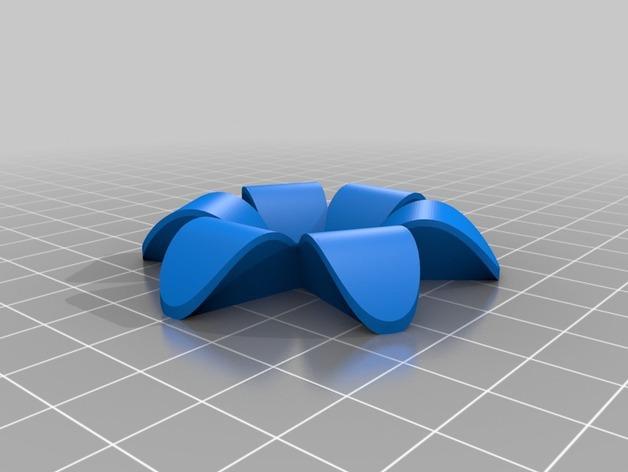 花形图钉#1 3D模型  图4
