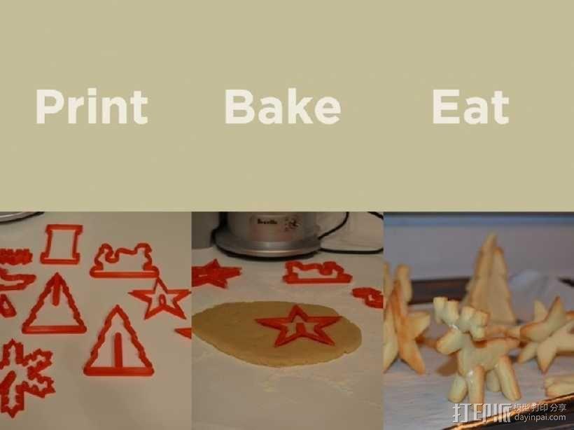 圣诞节饼干模具切割刀 3D模型  图2
