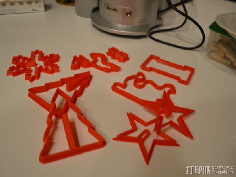 圣诞节饼干模具切割刀 3D模型  图5