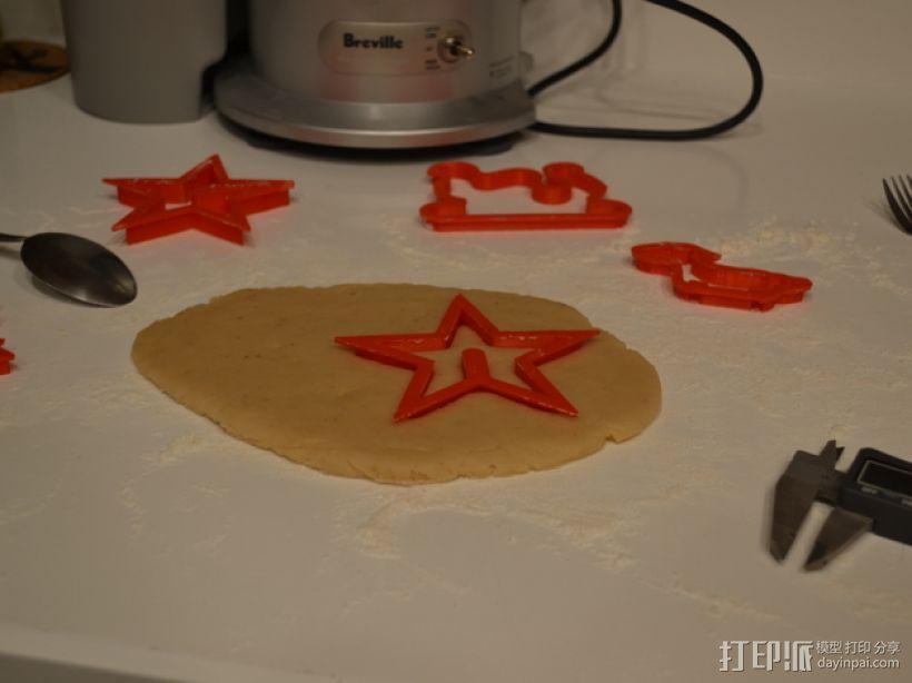 圣诞节饼干模具切割刀 3D模型  图3