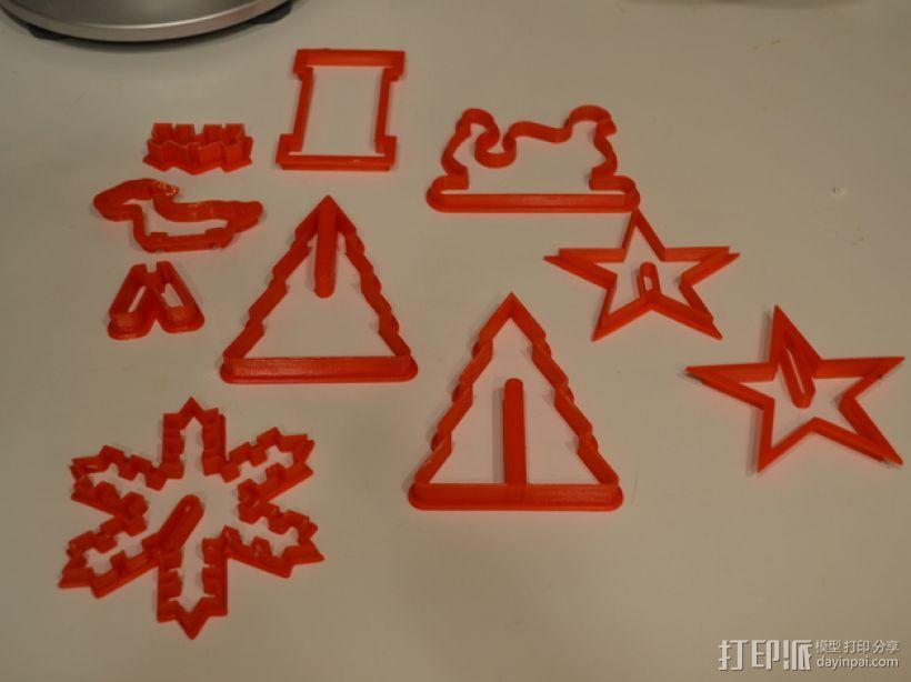 圣诞节饼干模具切割刀 3D模型  图4