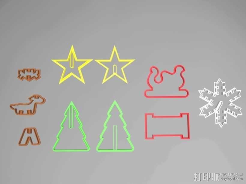 圣诞节饼干模具切割刀 3D模型  图6