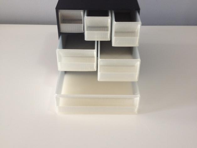 多层多格迷你储物抽屉 3D模型  图2