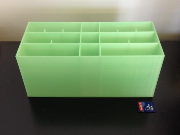 多层多格迷你储物抽屉 3D模型  图6