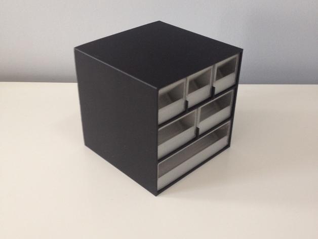 多层多格迷你储物抽屉 3D模型  图3