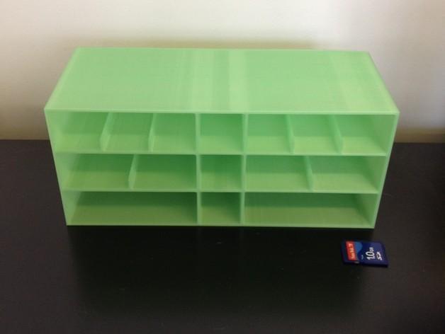 多层多格迷你储物抽屉 3D模型  图5