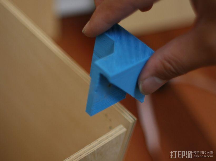 XYZ盒形架连接装置 3D模型  图4