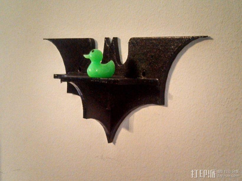 蝙蝠形壁挂式搁板 3D模型  图3