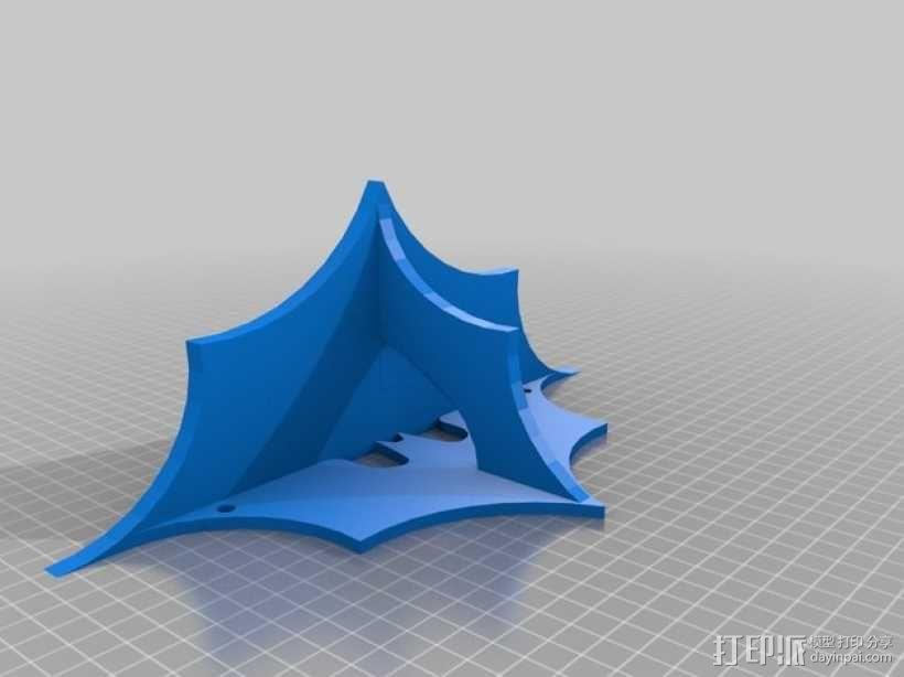 蝙蝠形壁挂式搁板 3D模型  图6